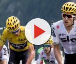 Il Team Sky in testa al gruppo al Tour de France