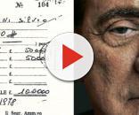 La tessera della loggia P2 di Silvio Berlusconi