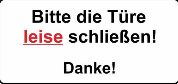 "Bitte Türe leise schließen"" - Berlin soll leiser werden, Verkehrslärm gedämpft werden. - ebay.de"
