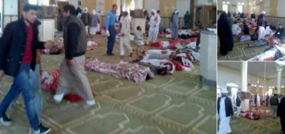 Atacul de vineri din Sinai soldat cu 305 morți dintre care 27 de copii, a fost urmat de un atac aerian drept represalii - Foto: Twitter