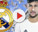 Neymar con la camiseta del Real Madrid