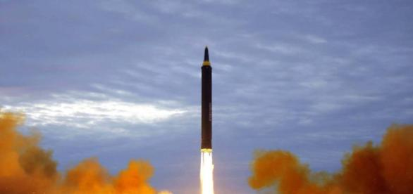 North Korea has launched a ballistic missile which has landed off the coast of Japan.