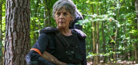 Melissa McBride interpretando a Carol Peletier en The Walking Dead