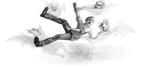 """Ilustración de Miguel Zorita que aparece en su libro """"Martinico:el duende de Mondéjar""""."""
