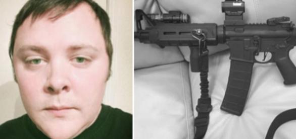 Asasinul din Texas a postat pe Facebook o imagine cu pușca de asalt AR-15 înainte de tragedie - Sursa foto: Daily Mail