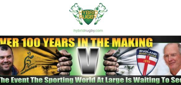 Wallabies vs Engand RL Hybrid Rugby