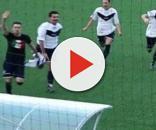 L'esultanza di Luppi dopo il gol segnato. (Fonte Google Images)