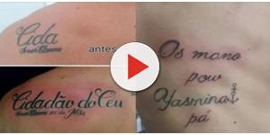 Eles usaram a criatividade e talento para tapar suas antigas tatuagens