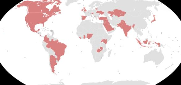 Countries so far implicated in Paradise Papers (Picture Wikimedia commons)