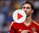 Sergio Ramos con el escudo español