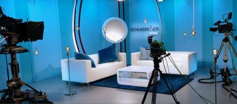 Blick in das Studio von GoldStar TV - seit 01.11.2017 sendet der Sender nur noch im Streaming / Foto: Mainstreammedia AG