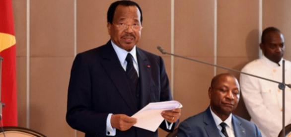 Le président de la République du Cameroun Paul Biya