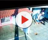 Em Acari, dono de casa lotérica reagiu a assalto com golpes de vassoura (Foto: Reprodução)