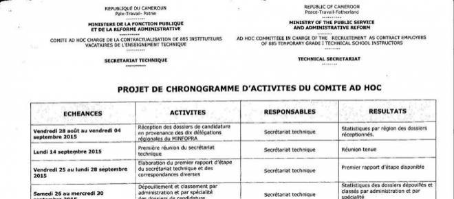 Cameroun : dossier des 885 instituteurs ; le MINFOPRA humilié !