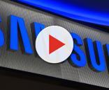 Il logo ufficiale dell'azienda Samsung