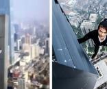 """Primul """"Om păianjen"""" al Chinei și-a filmat propria moarte - Foto: Daily Mail (© AsiaWire)"""