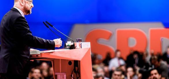 Martin Schulz auf dem SPD Bundesparteitag (Foto: Photothek/Gottschalk)