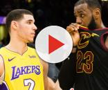 LeBron and Lonzo share a conversation - (Image: YouTube/NBA)