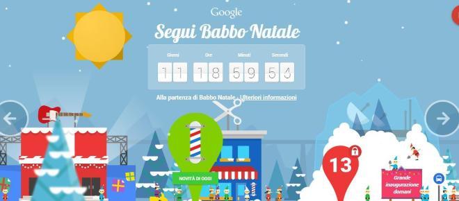Anche quest'anno il Google Santa Tracker per festeggiare il Natale