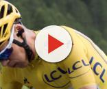 Chris Froome in maglia gialla al Tour de France.