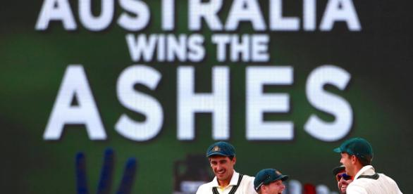 Australia win the Ashes. Image credit-Screen shot Youtube.com