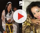 Stefhany Absoluta chega a casamento de jumento e sai em carrão