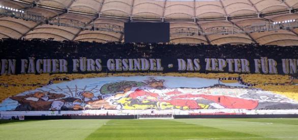 Eine Stuttgarter Fan-Choreo gegen den Rivalen (Quelle: stuttgarter-nachrichten.de)