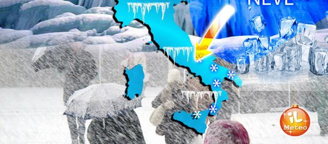 Pazza epifania 2018: tanta neve al Nord, caldo al Sud e gelo in Europa
