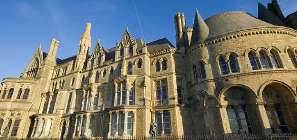 Aberystwyth University in the summer