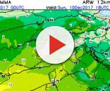 Situazione termica a 925 hPa per domenica pomeriggio, 10 dicembre.
