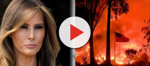 Melania Trump, California wildfires, via Twitter