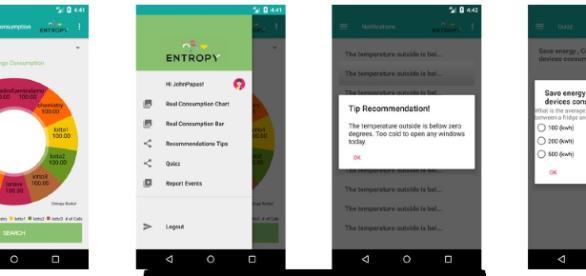 Entropy mobile app for behavioural change