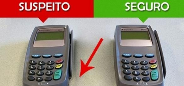 Como identificar uma máquina de cartão falsificada