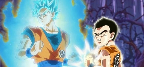 Goku y Krilin en el episodio 76.