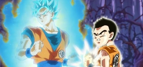 Goku y Krilin en el episodio 76