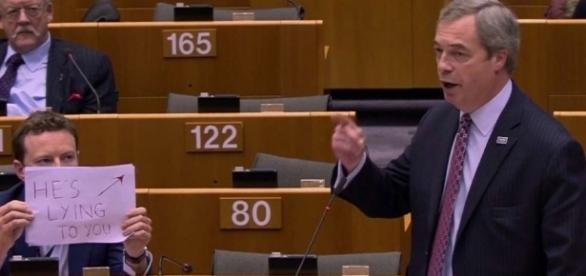 I had a 'screw it moment', says Europe MP who held sign up behind ... - scmp.com