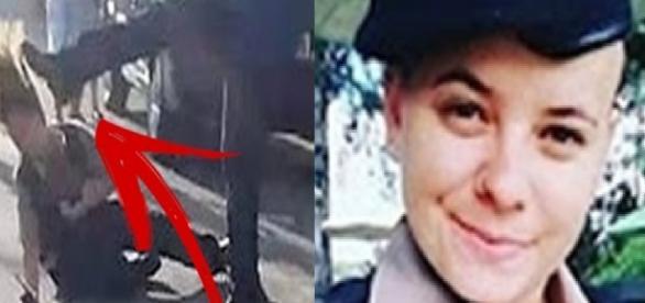 Homem bate em policial feminina e é solto