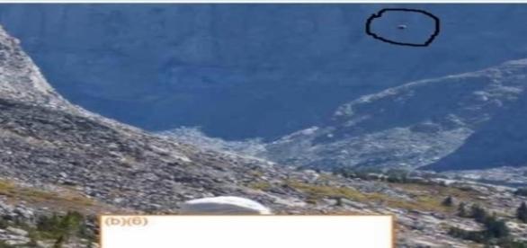 Imagem original de ovni exibida pelo Departamento de Agricultura. Veja a foto 2 ampliada (United States Department of Agriculture)