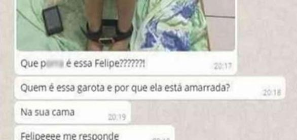 Mãe entra em pânico ao ver foto que filho enviou. (foto: reprodução Whatsapp)