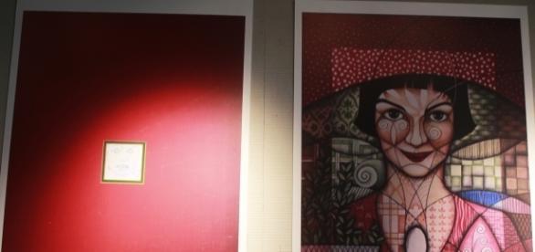 Uma das ilustrações presentes na intervenção 'Desvendando o Universo de Amélie Poulain' - Foto: Vanessa S.
