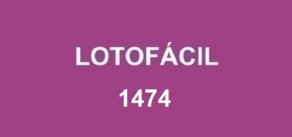 Divulgação do concurso Lotofácil 1474