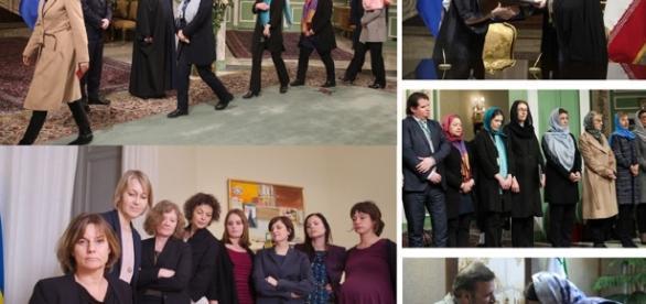 Imágenes de la polémica del Gobierno feminista sueco en Irán.