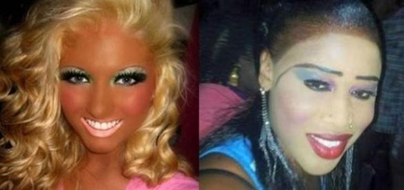 O excesso de maquiagem pode transformar seu visual nada agrável