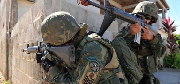 Fuzileiros navais estão atuando na segurança do Rio de Janeiro