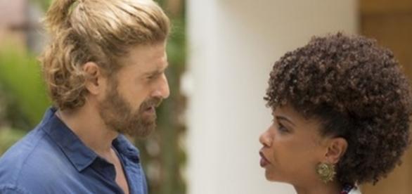 Pedro e Laura na novela 'A Lei do Amor' (Divulgação/Globo)