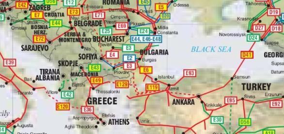 Tarile din spaţiul balcanic harta