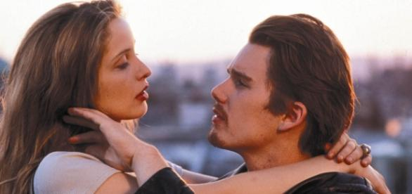 """Antes del amanecer"" (Before Sunrise) de 1995."
