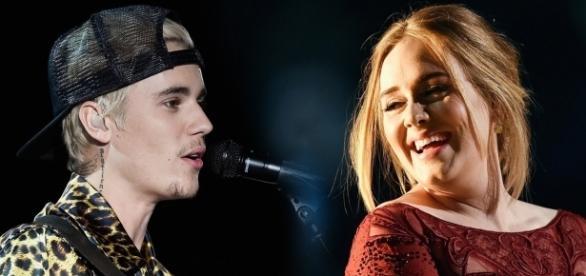 Justin Bieber decidiu detonar a colega de profissão Adele