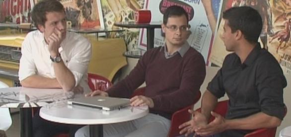 Da esquerda para a direita: Luís Jesus, Pedro Silva e Miguel Soares.