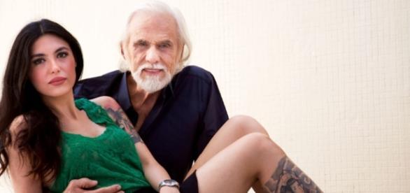 Francisco Cuoco e a namorada 53 anos mais nova